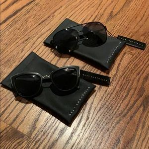 2 Pairs Black Quay Sunglasses *New*